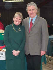 Photograph of the show judges, Mrs. Mary Pitcher and Mr. Graham Brace