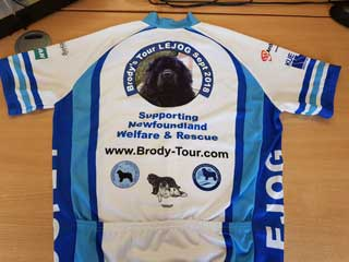 Cycle Vest showing the Newfoundland Clubs logos
